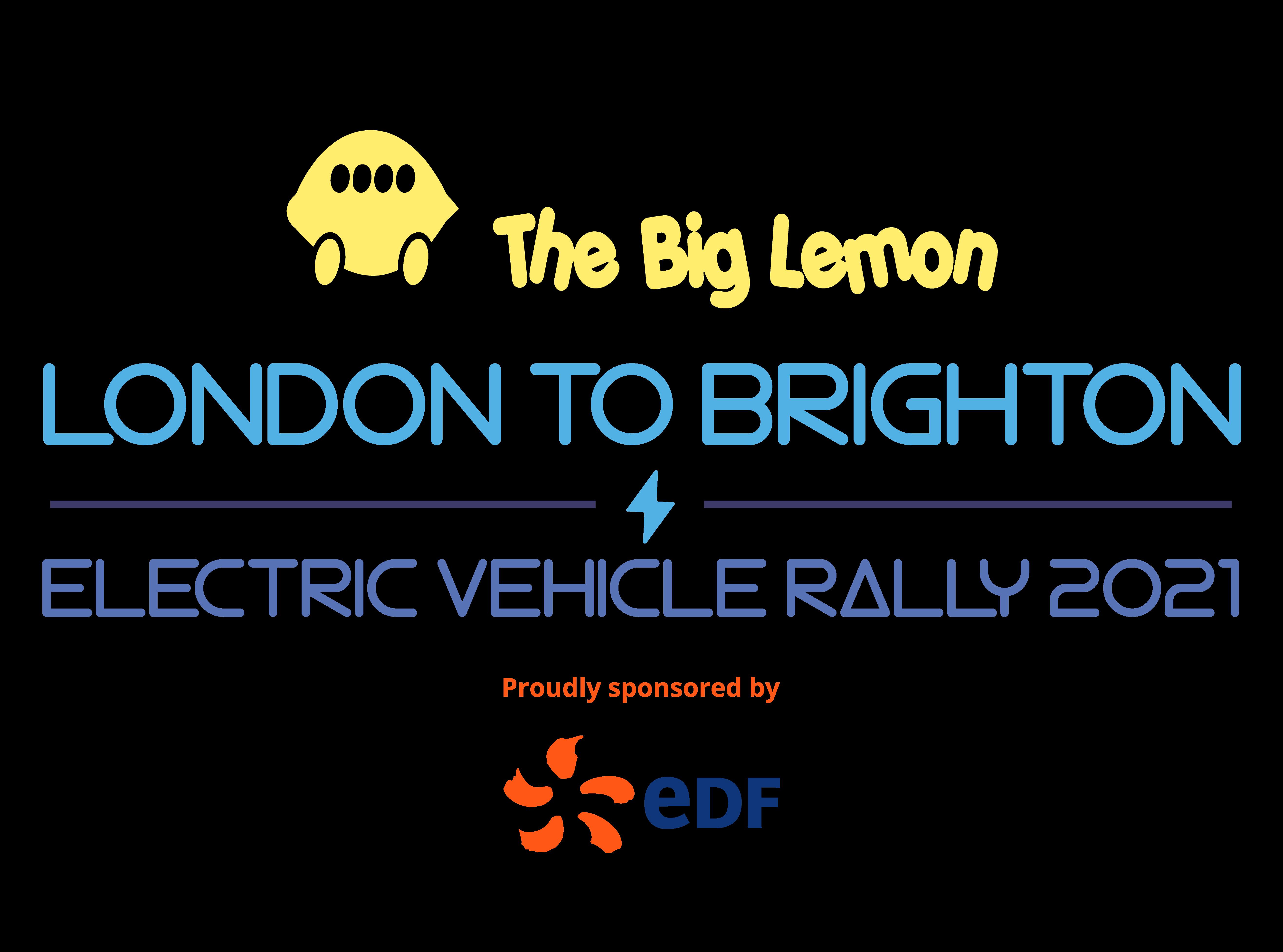 London to Brighton EV Rally logo 2021